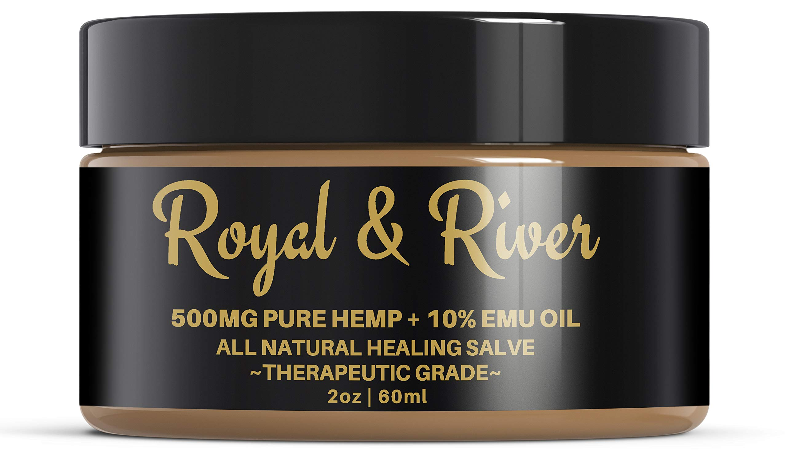 Hemp Pain Cream Salve - 500mg Hemp Extract and 10% Emu Oil -Relieves Inflammation, Muscle, Joint, Knee, Nerves, and Arthritis Pain. 2oz