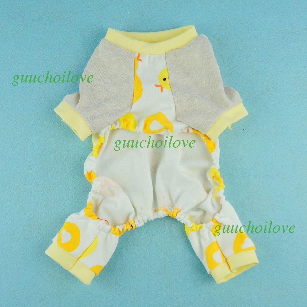 Amazon.com : Fitwarm Cute Duck Dog Pajamas Dog Clothes Dog Jumpsuit Pet Cat Pjs, X-large : Pet Supplies