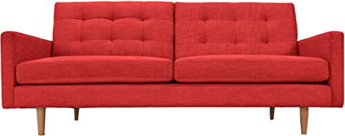 PoshBin Lawrence Mid-Century Modern Eco-Friendly Sofa Red