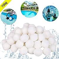 KATELUO 700g Boules de Filtre de Piscine, Balles Filtrantes,Média Filtre à Fibres pour Piscine Filtres à Sable Filtrage de l'eau.