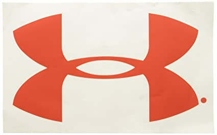 Amazon Com Under Armour 12 Inch Vinyl Decal Ua Logo Red Automotive