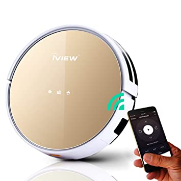 iView WiFi Smart Robot Vacuum Cleaner Works with Alexa, Google Assistant, Cleaning Robot with Sweep & Mop for Hard Floor & Short Carpet, Free APP, ...