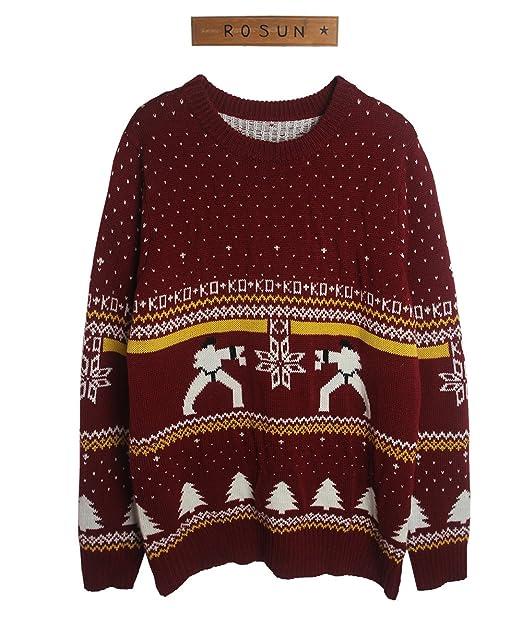 rosun womens ko wine christmas sweater
