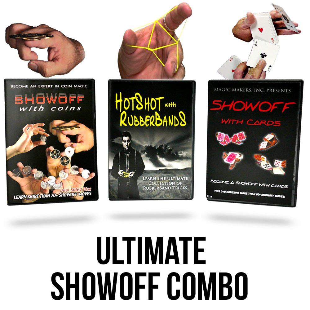 Magic Makers Presents the Ultimate Showoff Collection, 3 Huge Volumes of Magic Tricks Sure to Impress Anyone