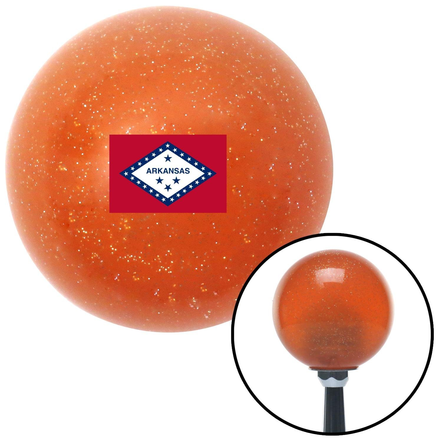 American Shifter 302706 Shift Knob Arkansas Orange Metal Flake with M16 x 1.5 Insert