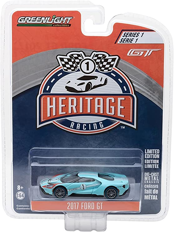 GREENLIGHT 13200 E HERITAGE RACING 2017 FORD GT 40 MKII #2 DIECAST CAR 1:64