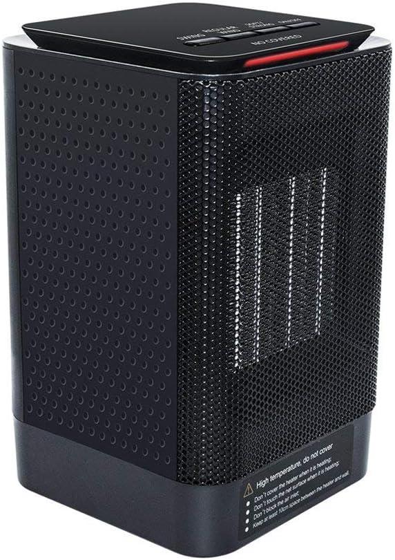 Calentador Eléctrico, MroTech Calefactor de Espacio Personal, Calentador aire caliente Portátil, Calentador de ventilador,Máquina de calentamiento rápido con 3 Ajustes Estufa para Hogar Oficina, Negro