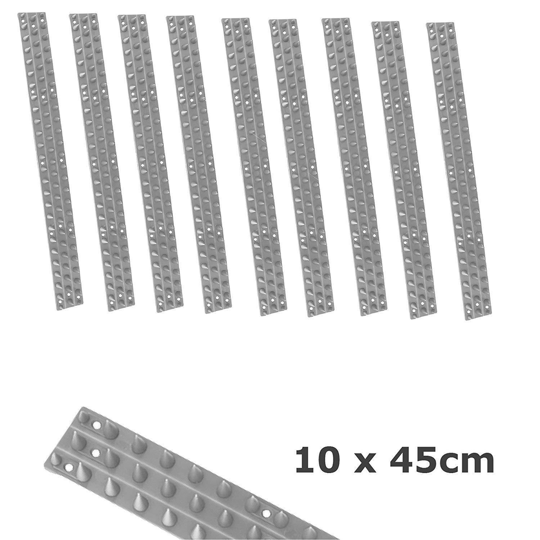Warnen 50cm Taubenspikes 6-reihig Taubenabwehr Vogelabwehr Edelstahllleiste 6 Reihig Fassade