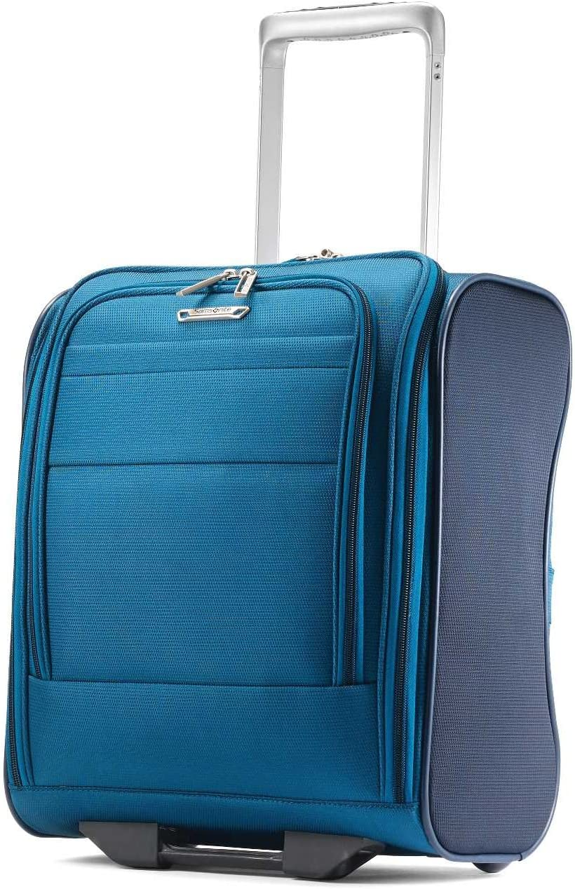 Samsonite Eco-Glide Softside Luggage with Spinner Wheels, Pacific Blue/Navy, Underseater