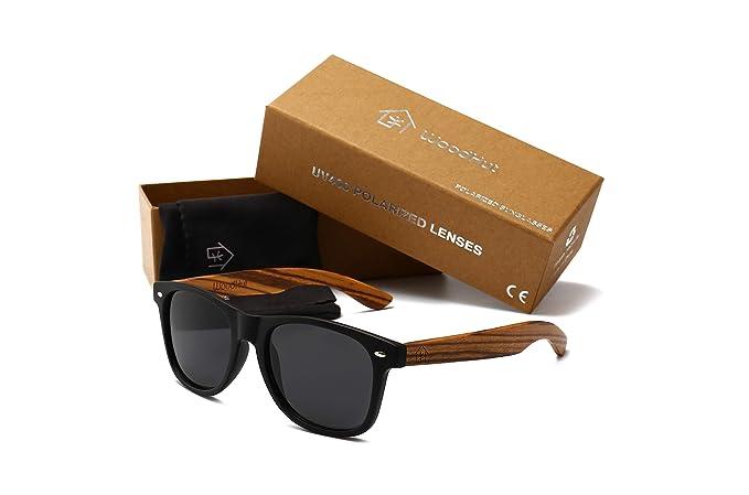 0c58c6233e1 Zebra Wooden Sunglasses lightweight Wood Wayfarer Vintage Sunglasses for  Mens and Women With Mirror Blue Polarized
