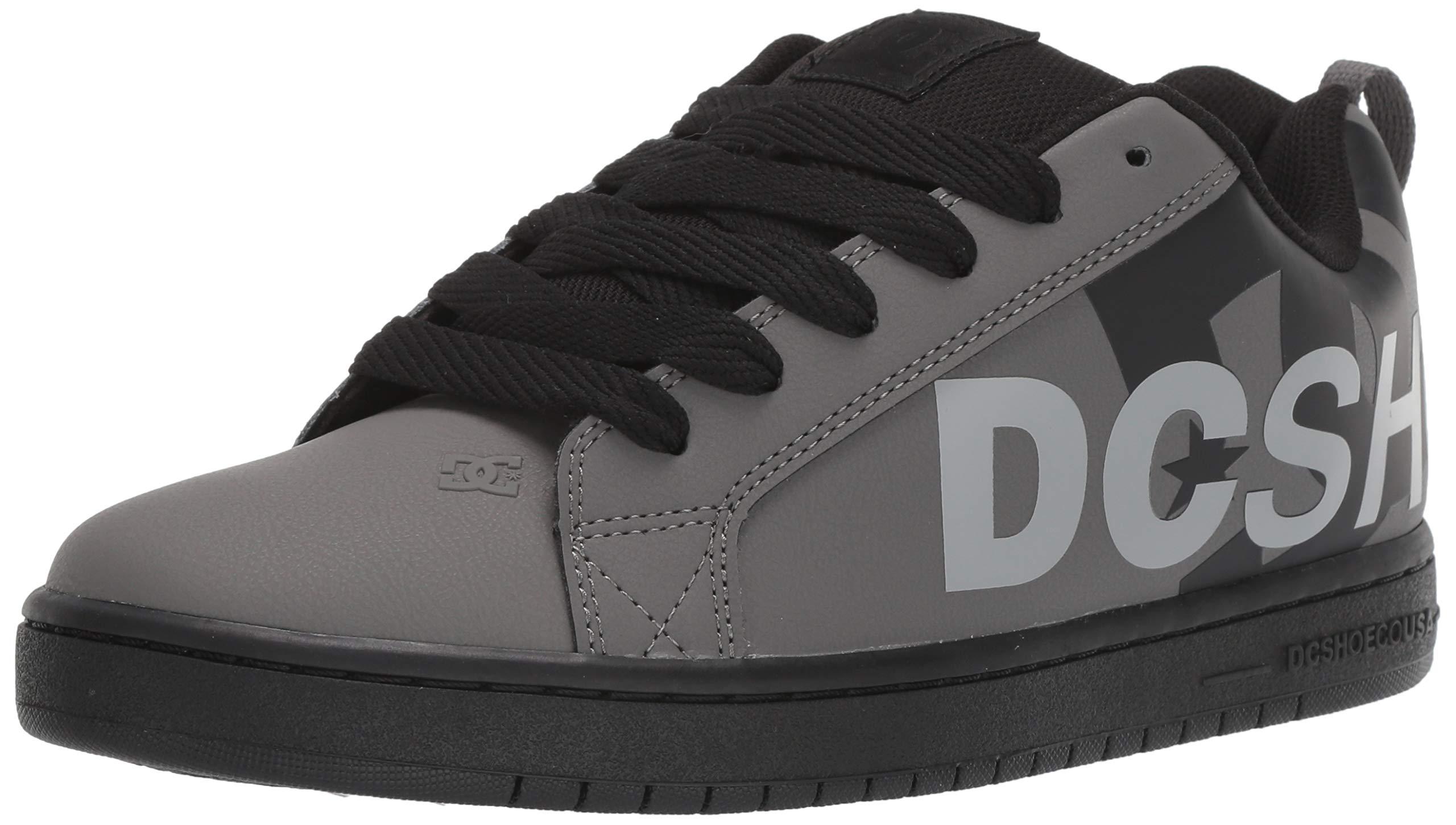 DC Men's Court Graffik Se Skate Shoe, Black/Grey, 14 M US by DC