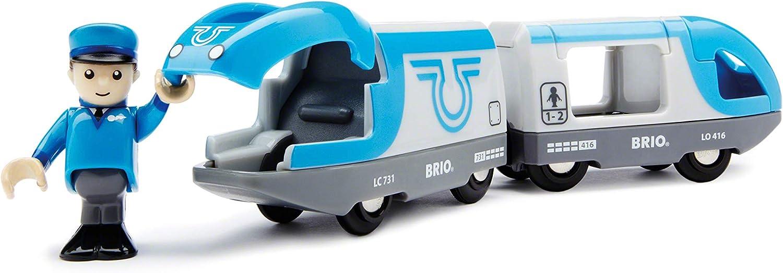 Brio World - 33506 Travel Battery Train   3 Piece Train Toy für Kids Ages 3 und Up
