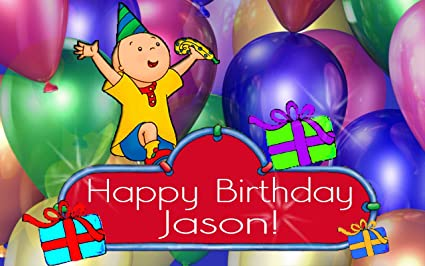 Amazoncom Caillou Birthday Party 14 Sheet Edible Photo Birthday