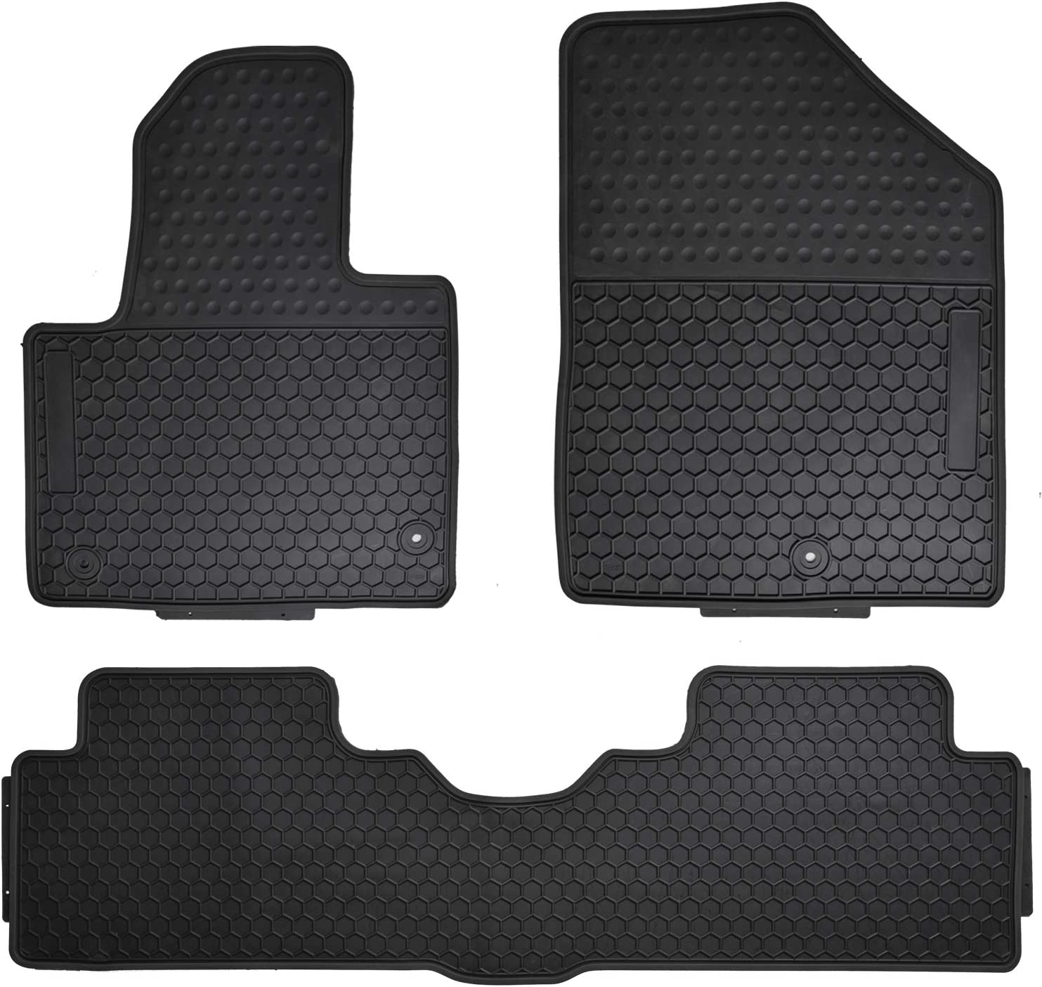 Megiteller Car Floor Mats Custom Fit for Kia Sportage 2017 2018 2019 2020//2019-2020 Hyundai Tucson Odorless Washable Heavy Duty Rubber Floor Liners Front and Rear Row Set Blue All Weather