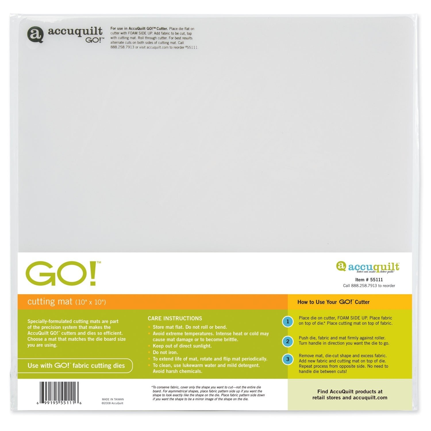 5-Inch-by-10-Inch AccuQuilt Go Cutting Mat