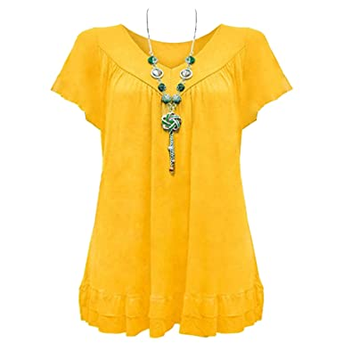 2f2930bfb1ebd Vanilla Inc New Ladies Womens Gypsy Frill Hippy Top UK Size 12-30   Amazon.co.uk  Clothing
