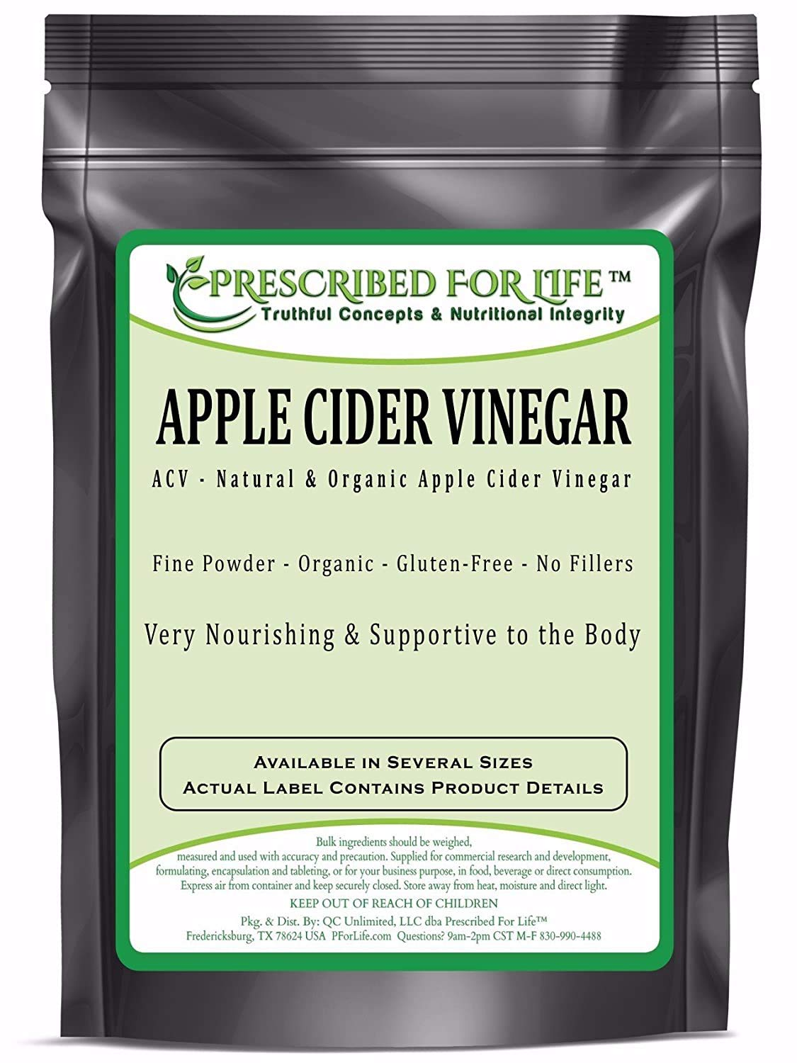 Apple Cider Vinegar - Organic Spray Dried ACV Powder - 5% Acetic Acid (Malus pumila - Mill.) (4 oz (113 g))