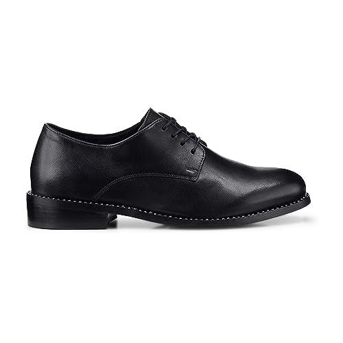 Cox Damen Damen Schnürschuh aus Leder, klassischer Derby