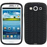 Custodia di alto pregio in TPU raffigurante profilo di pneumatico per Samsung Galaxy S3 i9300, colore Nero, firmata kwmobile. Custodia alla moda realizzata secondo i pi� alti standard qualitativi.