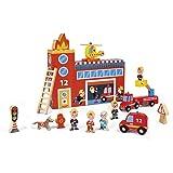 Janod-J08522-Jouet en Bois-Story Box Pompiers