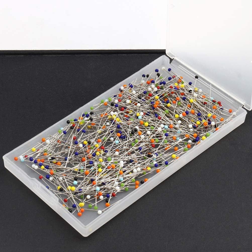 pengxiaomei 500 Pcs Sewing Pins Ball Glass Head Pins Straight Quilting Pins for Dressmaker Jewelry Decoration