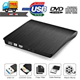 External CD Drive,Yudeg USB 3.0 External Optical CD Drive DVD RW CD Rewrite Burner for Laptop Desktop Macbook Mac OS/ Windows/ Vista
