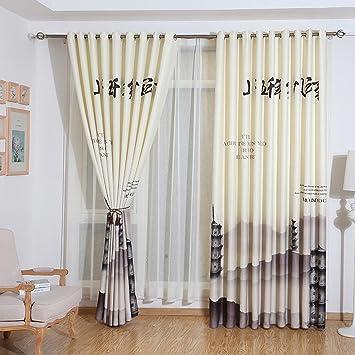 AINIJ Impression numérique 3D chinois, rideaux d\'ombre créative ...