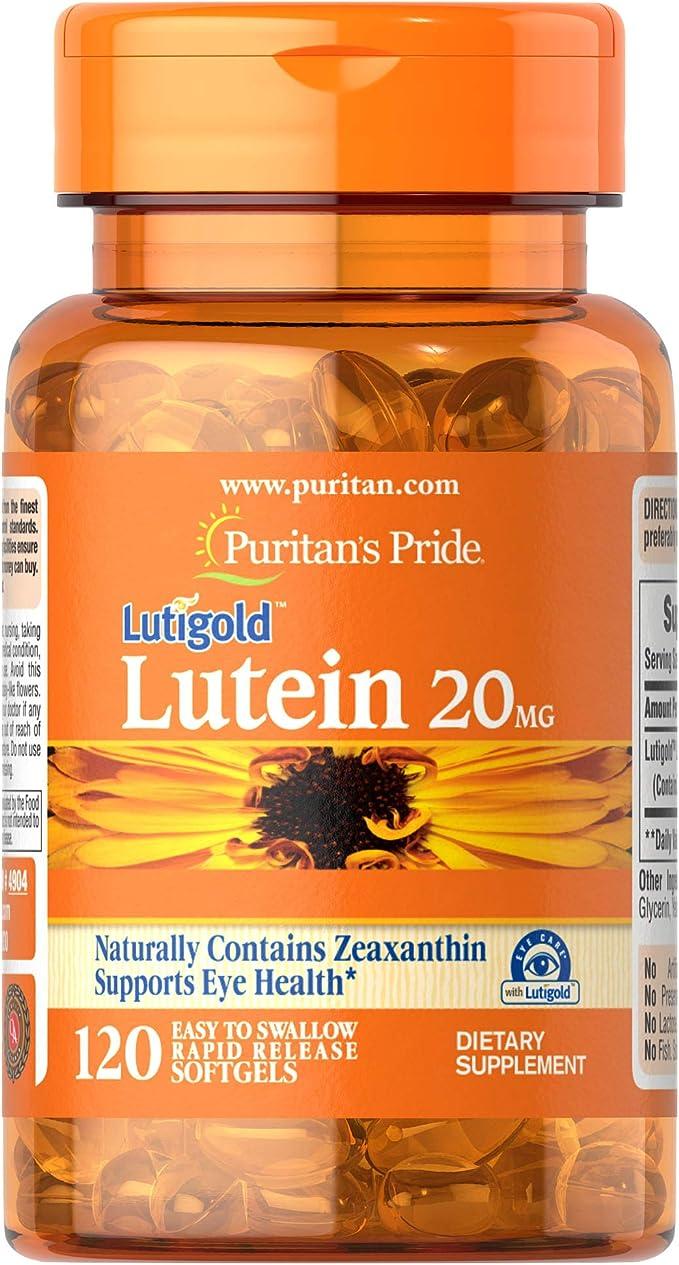 Lutein Zeaxantina 20mg 120 Softgels Puritan's Pride por Puritan's Pride