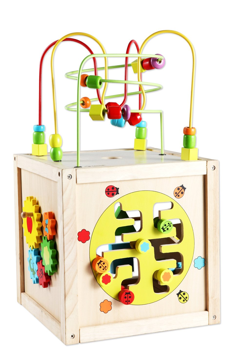 B00DPTRCK4 Classic World Toys Multi-Activity Cube with Wheels 71qiClbrjXL