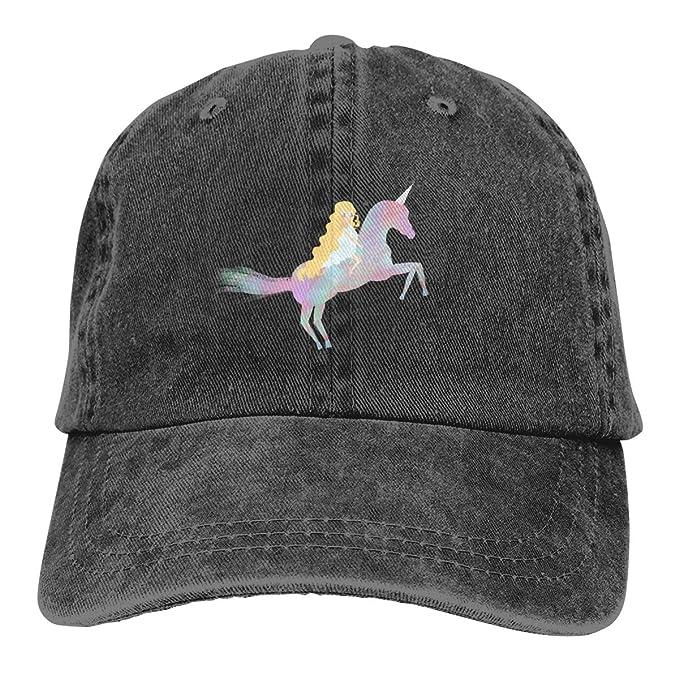 Baseball Cap Gorras para Hombres Dad Cap Polo Hat Gorras De Mujer Unicorn Casquette Black