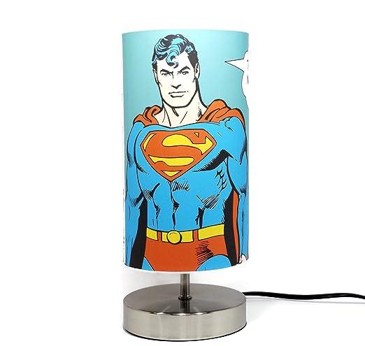 Elegant Superman Lamp Light Lampshade Bedside Table Desk Lamps Night Light Boys  Kids Childrenu0027s Bedroom Accessories Gifts