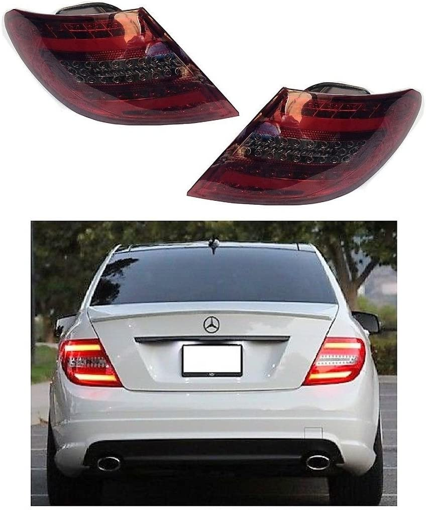 1672996 Right Left Driver Passenger Side OS NS RH LH Rear Back Tail Light Lamp Pair Set LED Clear Red Smoke