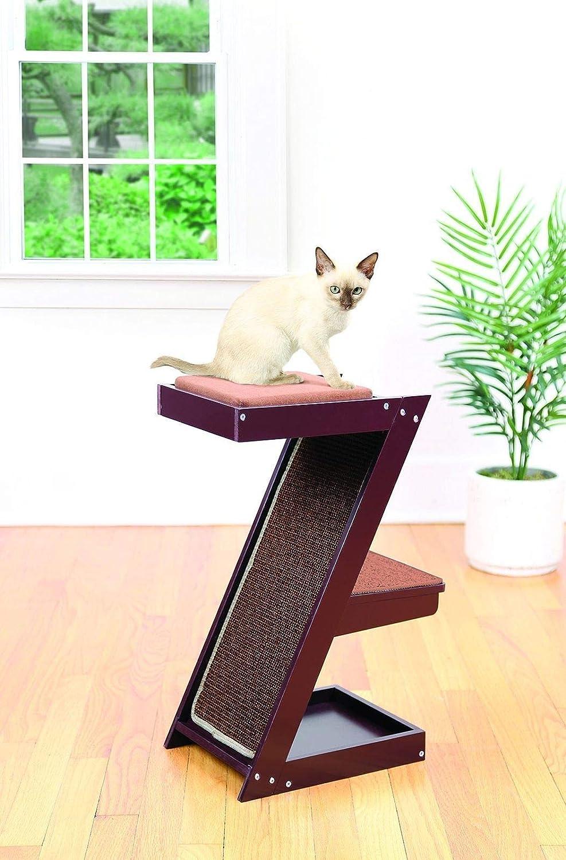 Amazoncom Lexi Home Wooden Cat Scratcher Cat Perch Cat