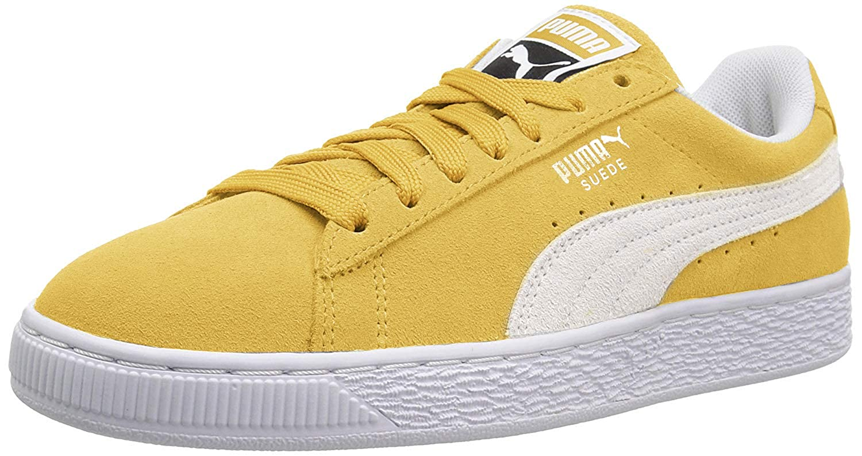 PUMA Suede Classic Sneaker, Honey Mustard White, 12 M US