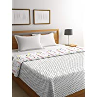 Trident His and Her Reversible Abstract Cotton Double Bed Dohar