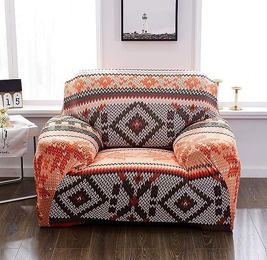 ZX Fundas Sofa Elasticas Cubre Sofa Poliéster Tela Estampado ...