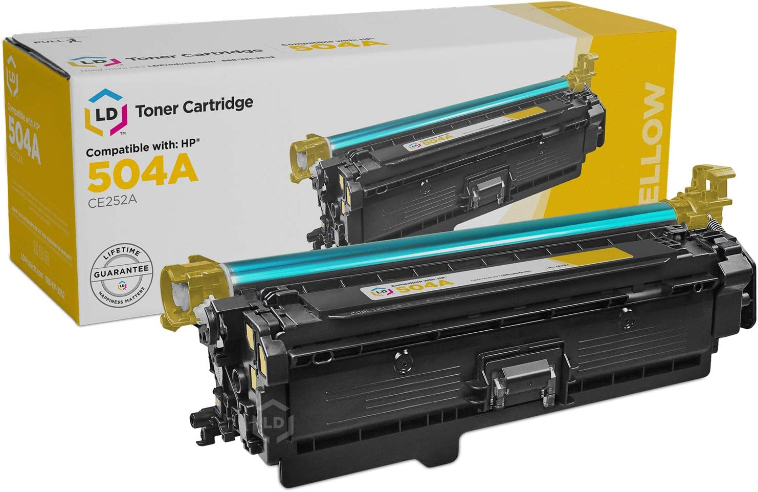 LD Remanufactured Toner Cartridge Replacement for HP 504A CE252A (Yellow)