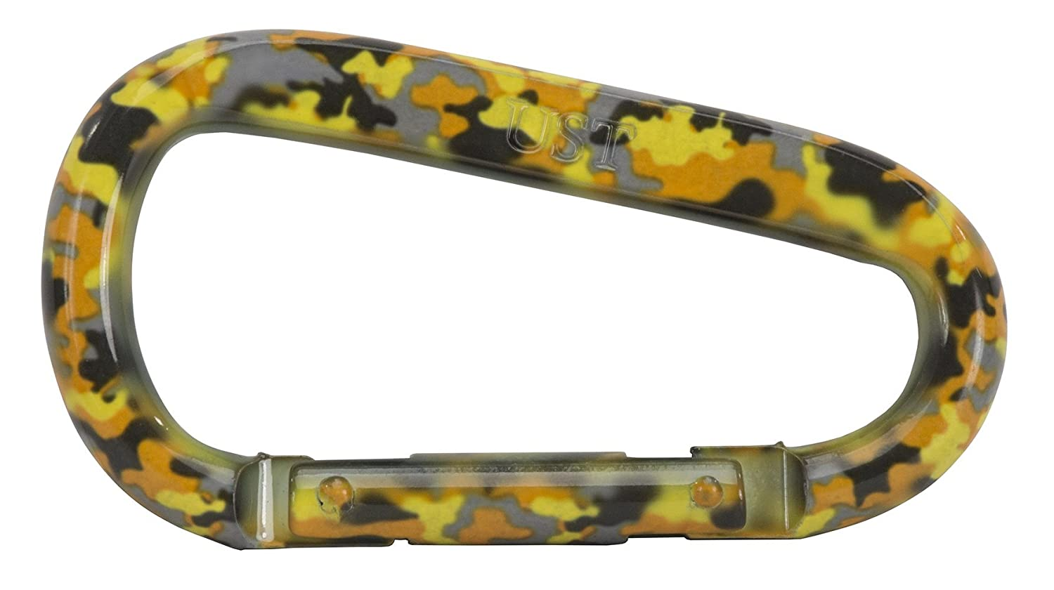 UST Snappy D Shape Carabiner, Yellow Camo 20-12083