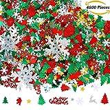 Toys : Aneco 100g/4800 Pieces Christmas Confetti Pentagram, Snowflake, Santa, Pine, Merry Christmas Alphabet, Elk Table Confetti Bright Christmas Decoration Set