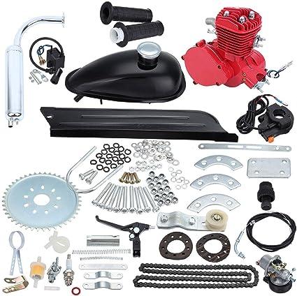 Samger Samger 2 tiempos Kit Motor de Bicicleta Gas Motor Kit de Conversión de Bicicleta (Rojo, 80CC): Amazon.es: Coche y moto