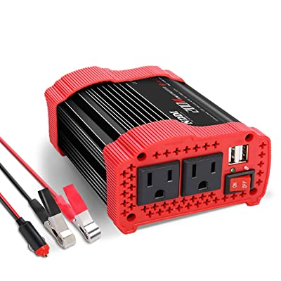 200W Car Power Inverter 12V DC to 110V AC Converter with 3.1 A Dual USB Quick Car Charger Adapter: Car Electronics