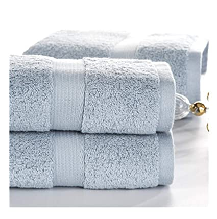 Amazon.com: George Gouge 3-Piece Solid Color Heavy Egyptian Cotton Towel Set Bath Towel for Adults Face Towel Water-Absorbent toallas Ashel Blue: Home & ...