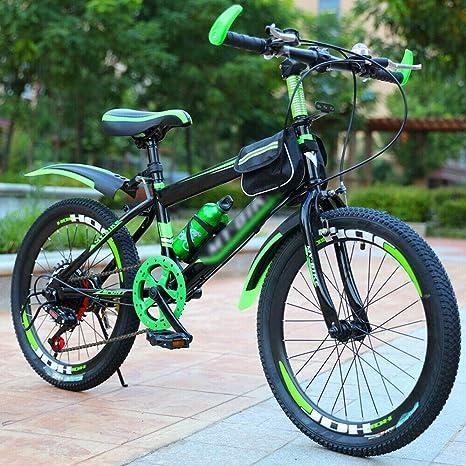 Freno de doble disco para bicicleta de montaña de 20 pulgadas, acero duro, color verde: Amazon.es: Deportes y aire libre