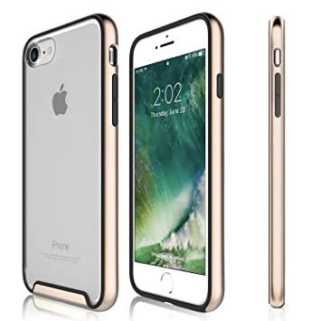 Funda iPhone 8, iPhone 7 - KHOMO Carcasa Transparente Triple Protección con Borde Bumper Case de Colores Antichoque para el Nuevo Apple iPhone 8 - ...