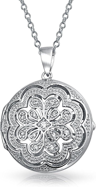 Estilo Antiguo Flor Filigrana Círculo Aromaterapia Aceite Esencial Difusor De Perfume Medallón Collar Para Mujeres