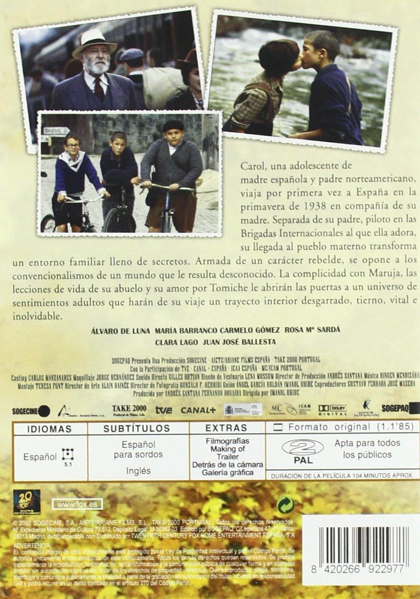 El viaje de carol [DVD]: Amazon.es: Alvaro De Luna, Maria Barranco, Carmelo Gomez, Juan Jose Ballesta, Clara Lago, Rosa Maria Sarda, Imanol Uribe: Cine y ...