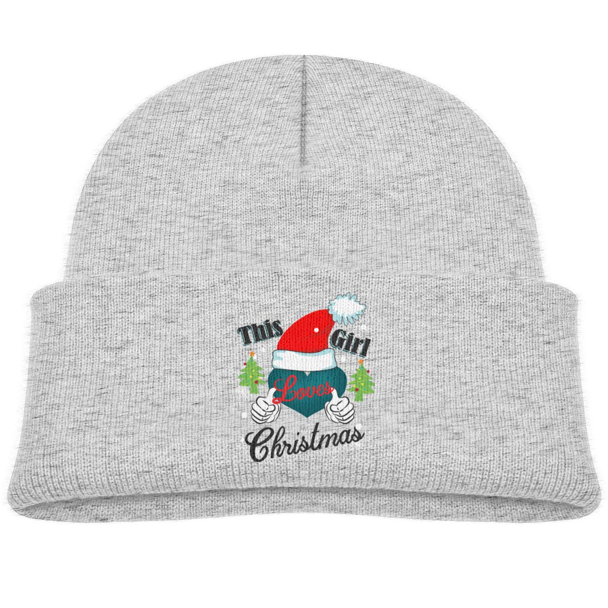 This Girl Loves Christmas Baby Boys Beanie Caps Knit Hat