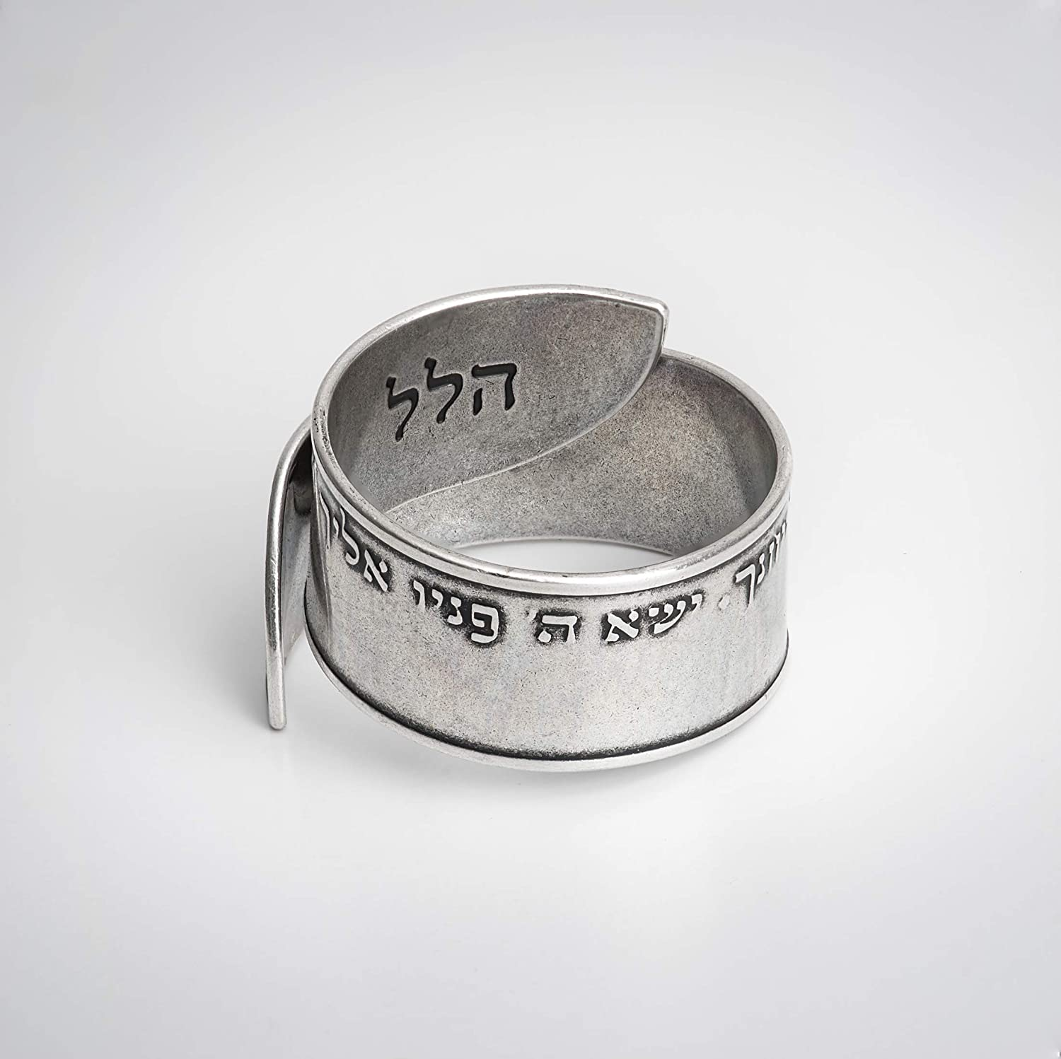 Handmade Silver Ring from Israel Two tone Ring Gift for her Sterling Silver 925 Ring Silver and Gold Ring