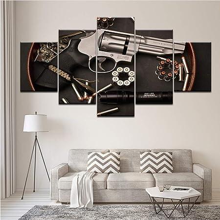 Wiwhy Mur Art Toile Peinture Bras Pistolet Hd Imprimer Image
