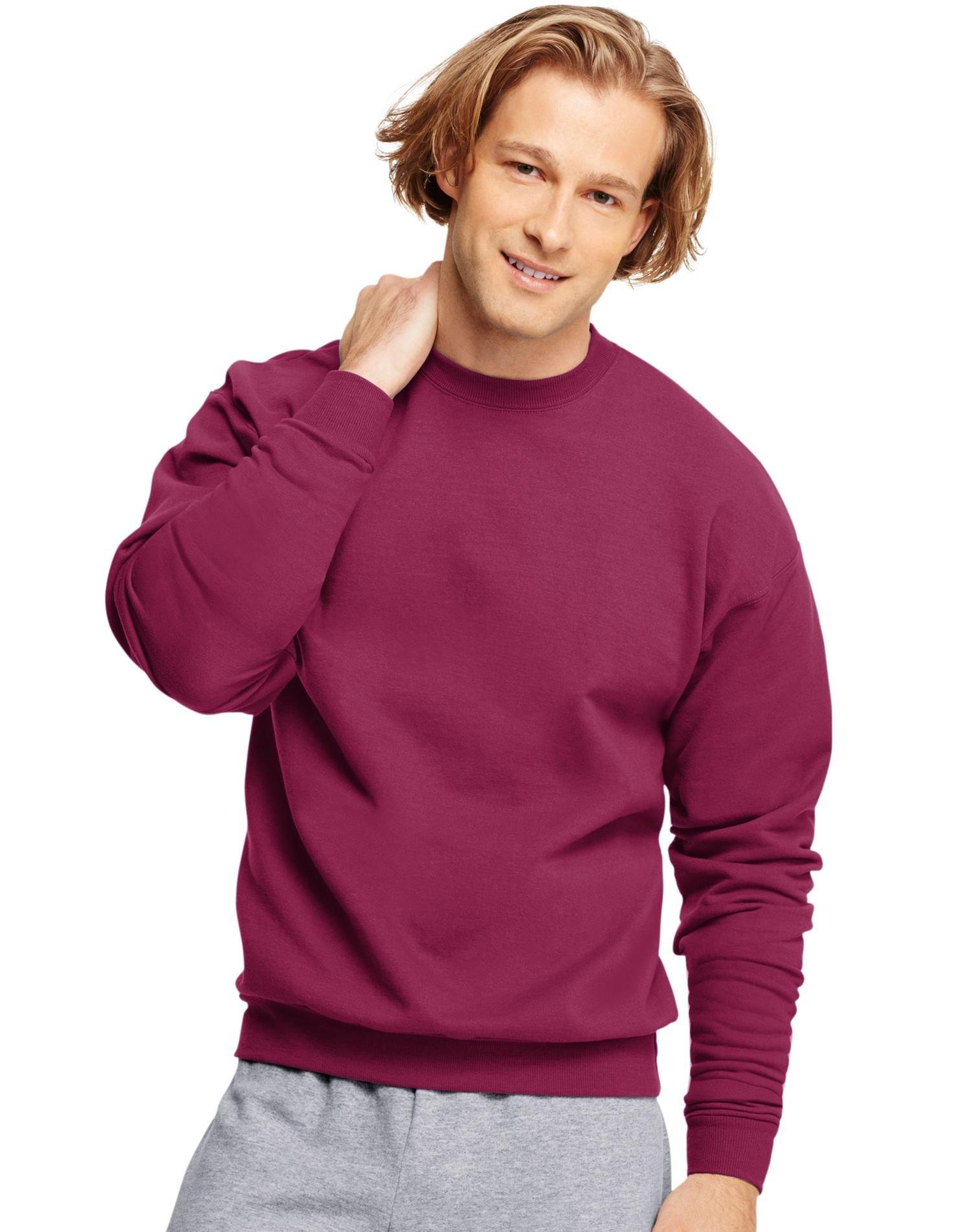 Hanes ComfortBlend EcoSmart Crew Sweatshirt_Cardinal_5XL by Hanes